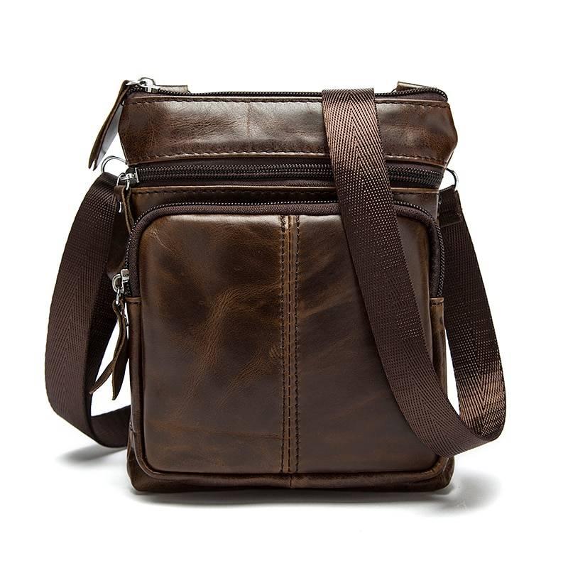 Men's Genuine Leather Crossbody Bag Crossbody Bags Men Bags & Wallets