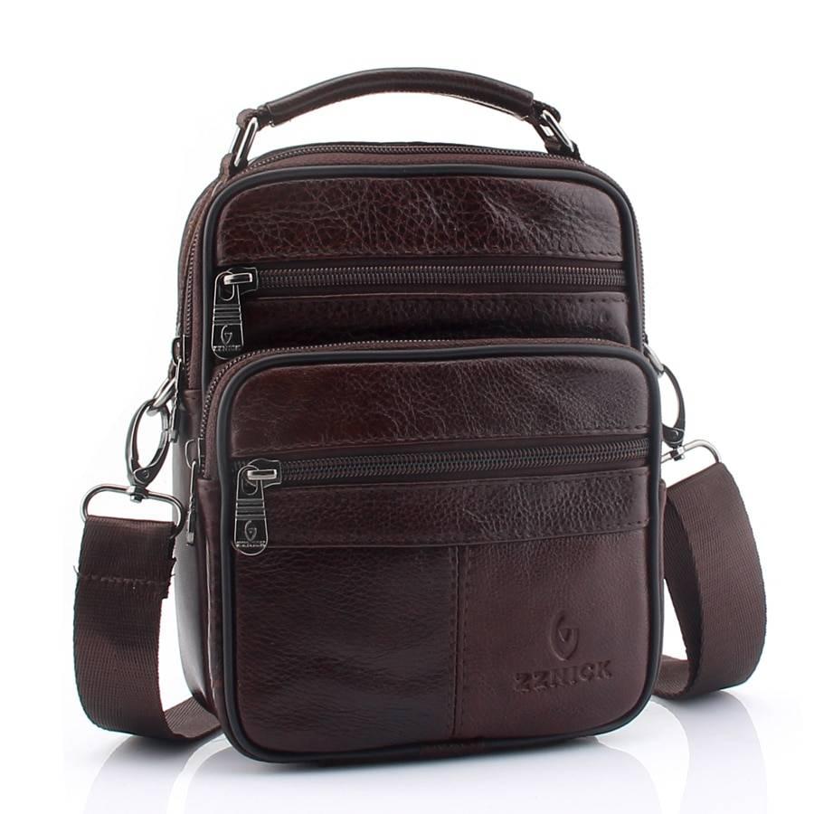 Men's Leather Shoulder Bag Crossbody Bags Men Bags & Wallets