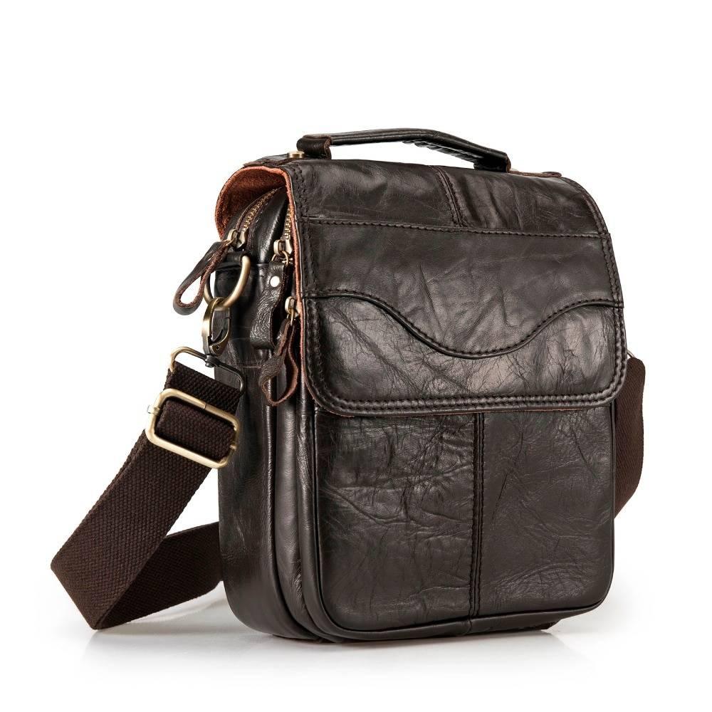 Casual Leather Messenger Bag for Men Crossbody Bags Men Bags & Wallets