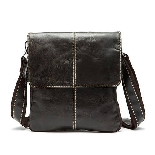 Classy Leather Messenger Bag for Men Crossbody Bags Men Bags & Wallets