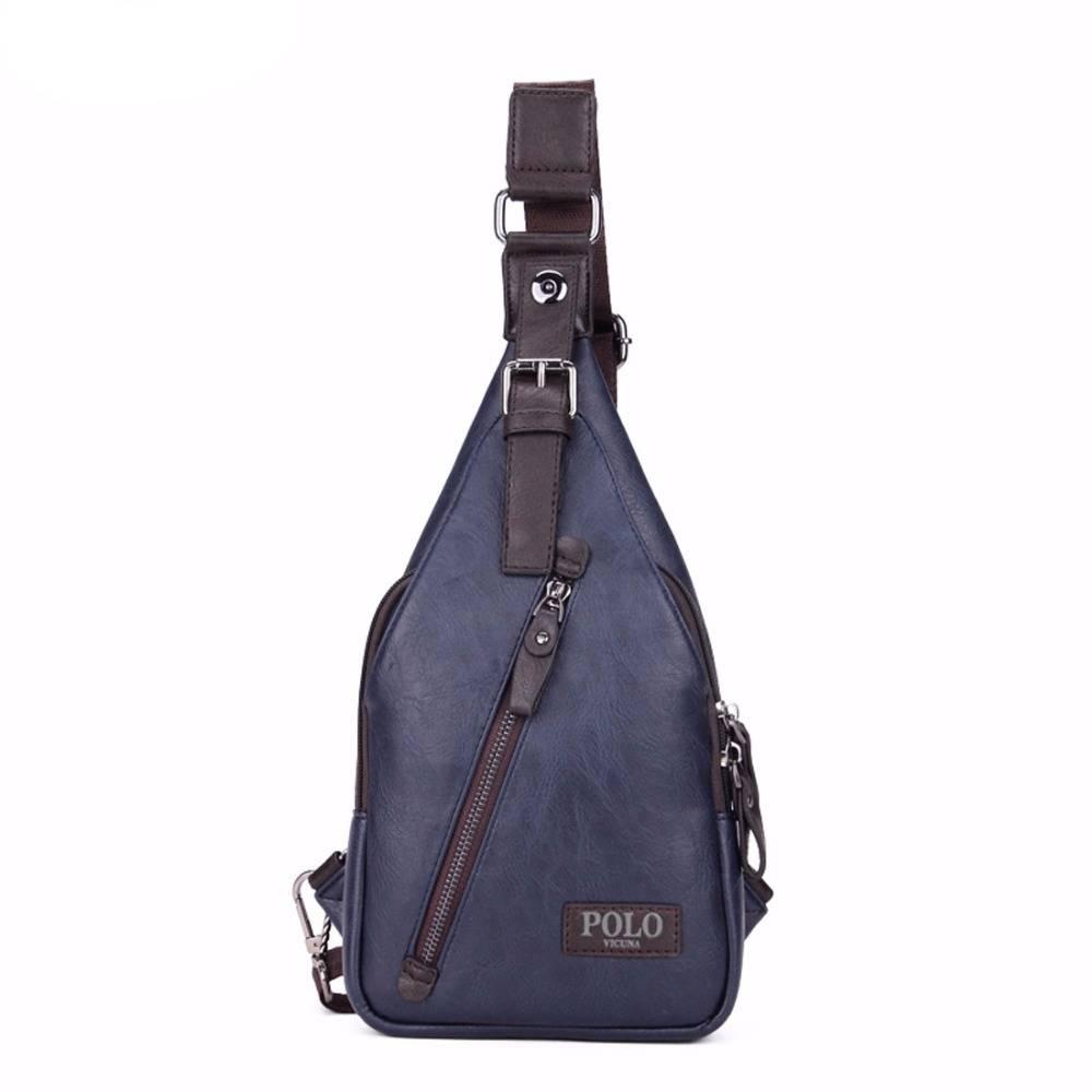 Men's Anti-Theft Leather Sling Bag Crossbody Bags Men Bags & Wallets