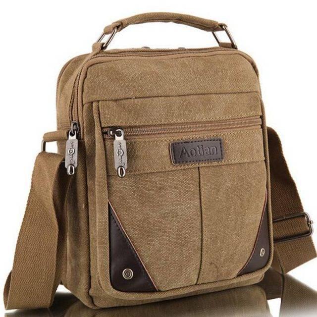 Men's Travel Canvas Crossbody Bag
