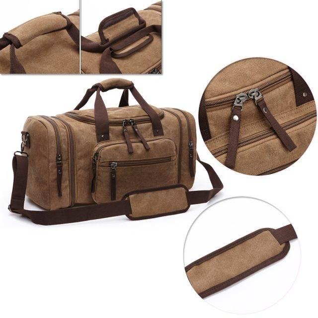 Canvas Men's Travel Bag Luggage & Travel Bags Travel Bags Color : Dark Blue|Coffee Brown|Green|Black|Dark Gray|Khaki|Generation 2 Coffee|Generation 2 Gray|Generation 2 Blue