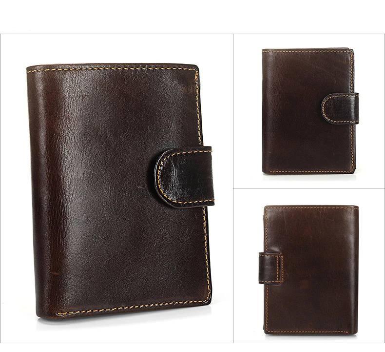 Vintage Bi-Fold Genuine Leather Wallet for Men Men Bags & Wallets Wallets