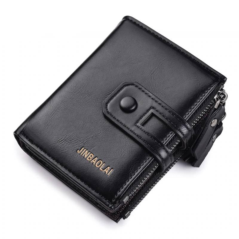 Men's Wallet with Double Zipper Men Bags & Wallets Wallets