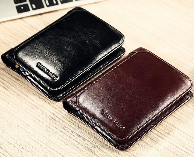 Fashion Short Genuine Leather Men's Wallet Men Bags & Wallets Wallets