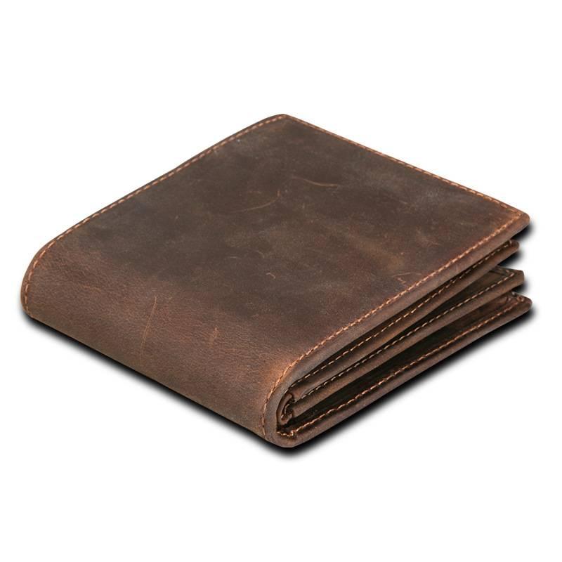 Men's Vintage Compact Genuine Leather Wallet Men Bags & Wallets Wallets