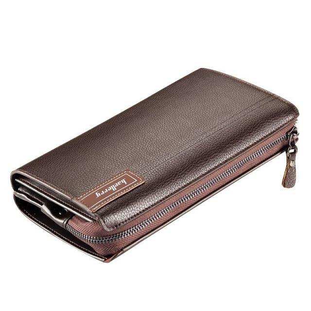 Spacious Leather Wristlet for Men Men Bags & Wallets Wallets Color : Black Brown