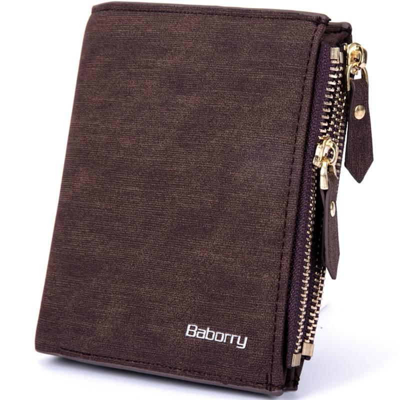 Men's Double Zipper Wallet Men Bags & Wallets Wallets