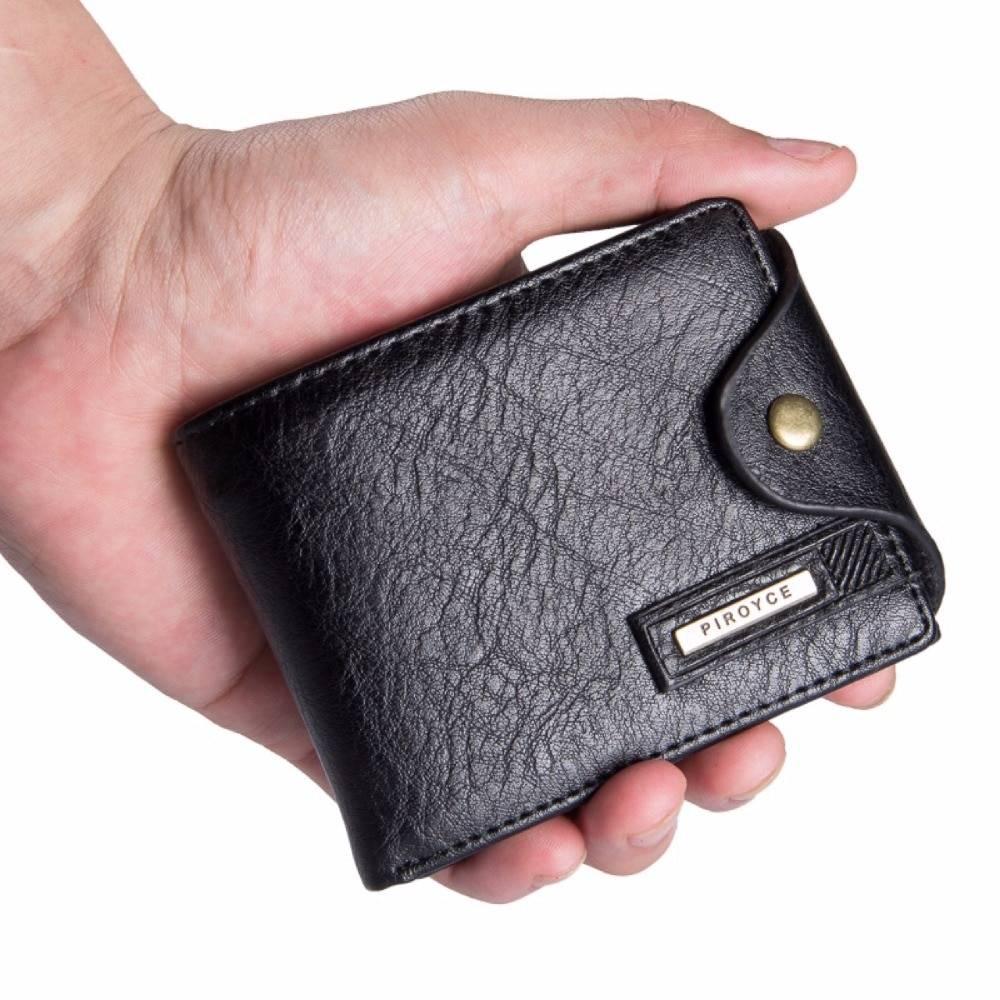 Men's Vintage Compact Leather Wallet Men Bags & Wallets Wallets