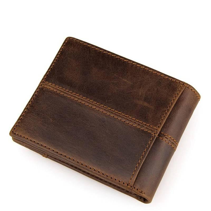 Men's Genuine Leather Short Wallet Men Bags & Wallets Wallets