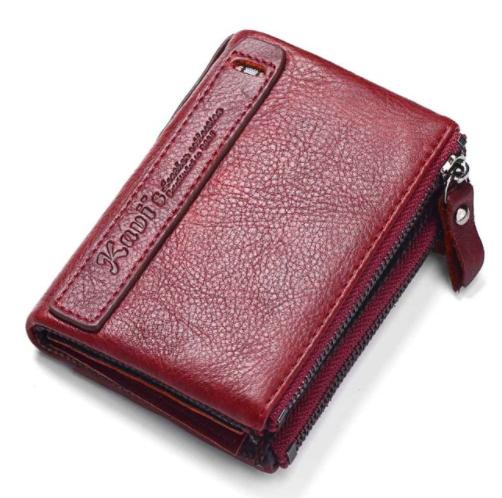 Casual Mini Cowhide Unisex Coin Purse Men Bags & Wallets Wallets