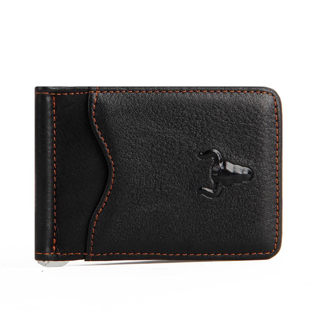 Men's Leather Money Clips Men Bags & Wallets Wallets