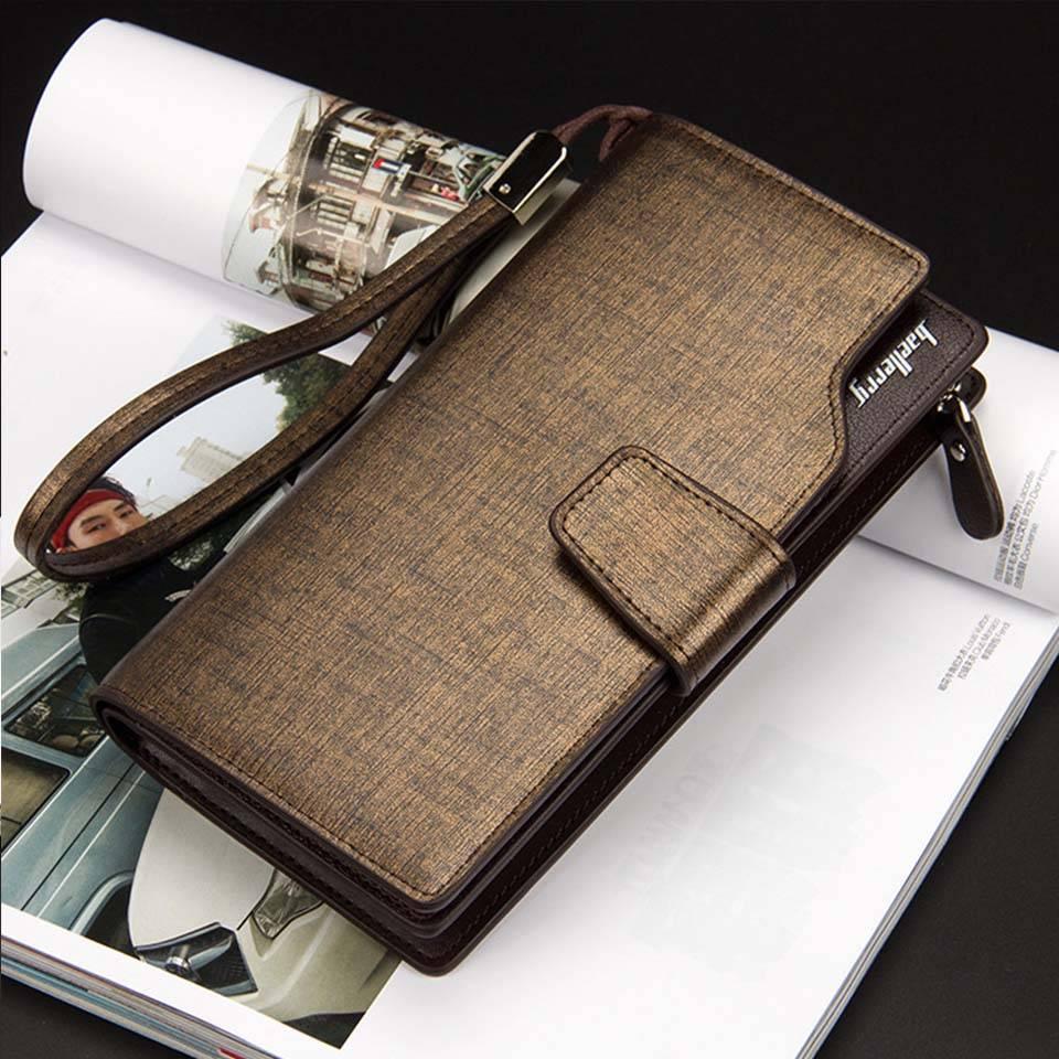 Men's PU Leather Long Wallet Men Bags & Wallets Wallets