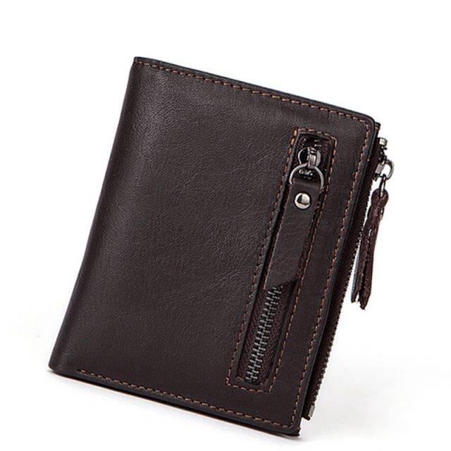 Men's Genuine Leather Purse Men Bags & Wallets Wallets Color : Coffee|Deep Coffee