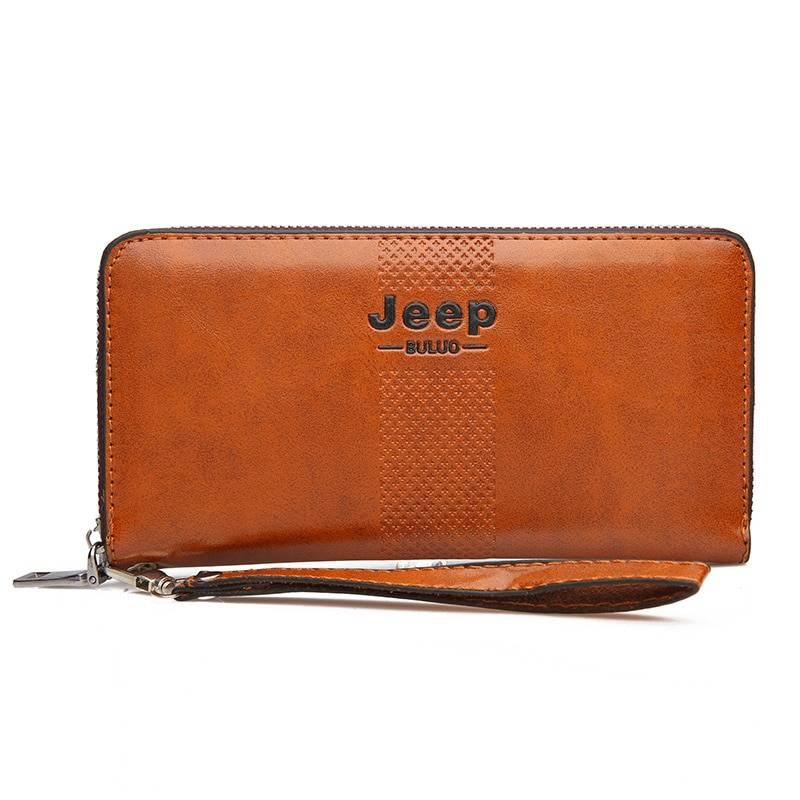 Spacious Men's Leather Wristlet Men Bags & Wallets Wallets