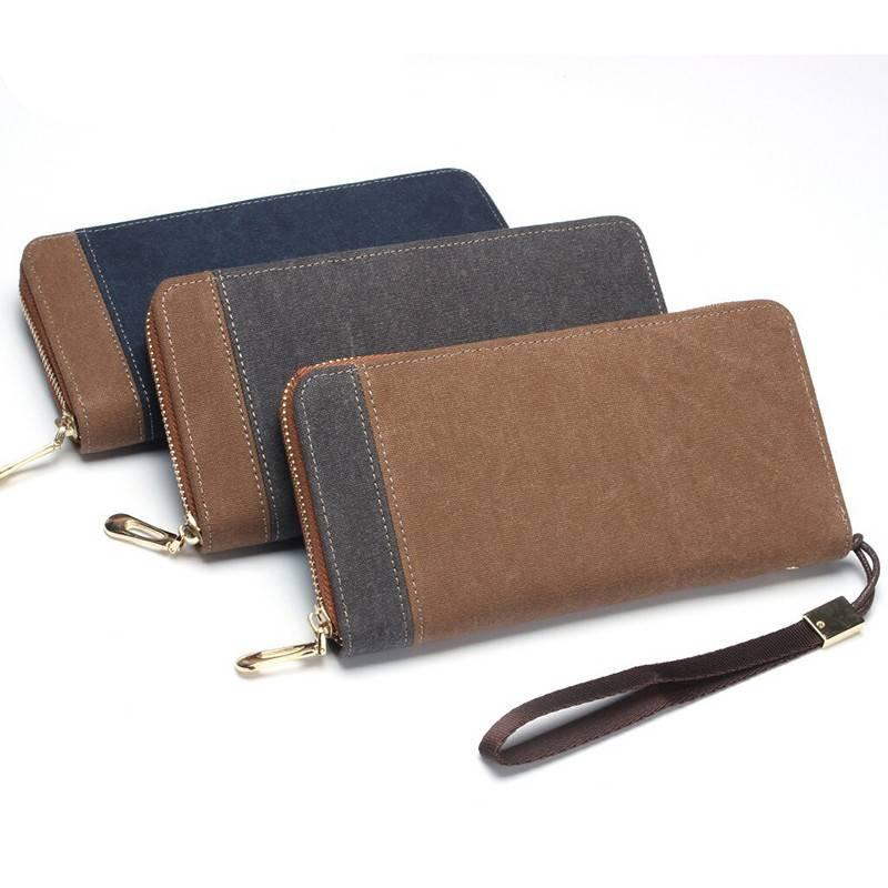 Casual Canvas Long Wallet Men Bags & Wallets Wallets