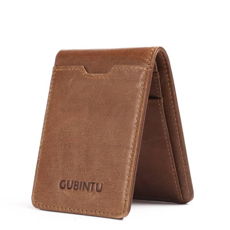Men's Ultrathin Genuine Leather Wallet Men Bags & Wallets Wallets