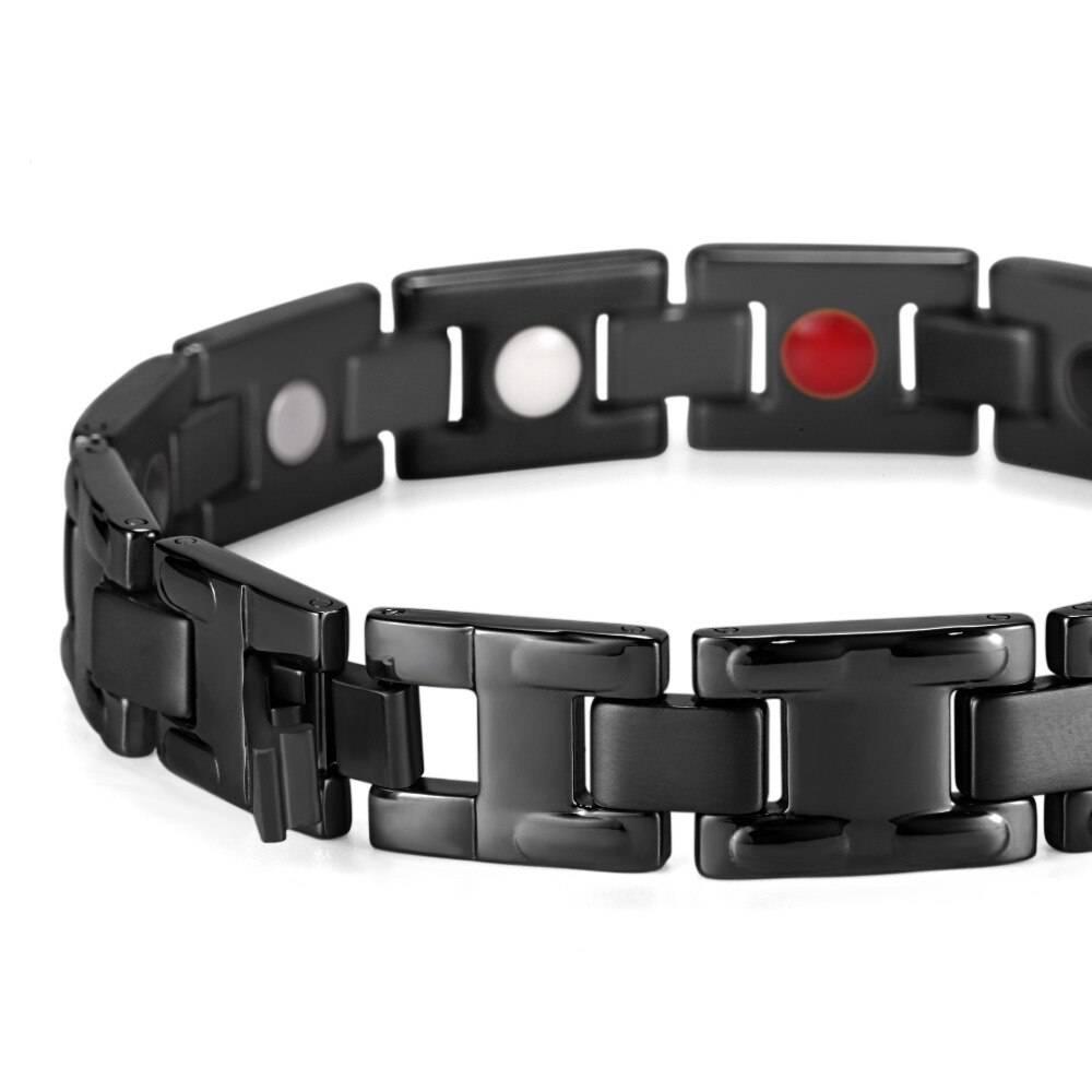 Men's Black Titanium Bracelet Bracelets Men Jewelry