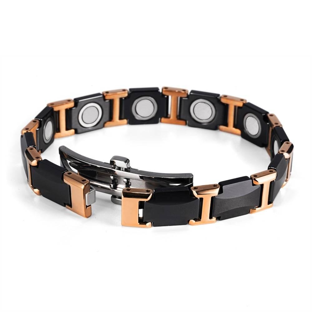 Men's Black Solid Ceramic Magnetic Bracelet Bracelets Men Jewelry