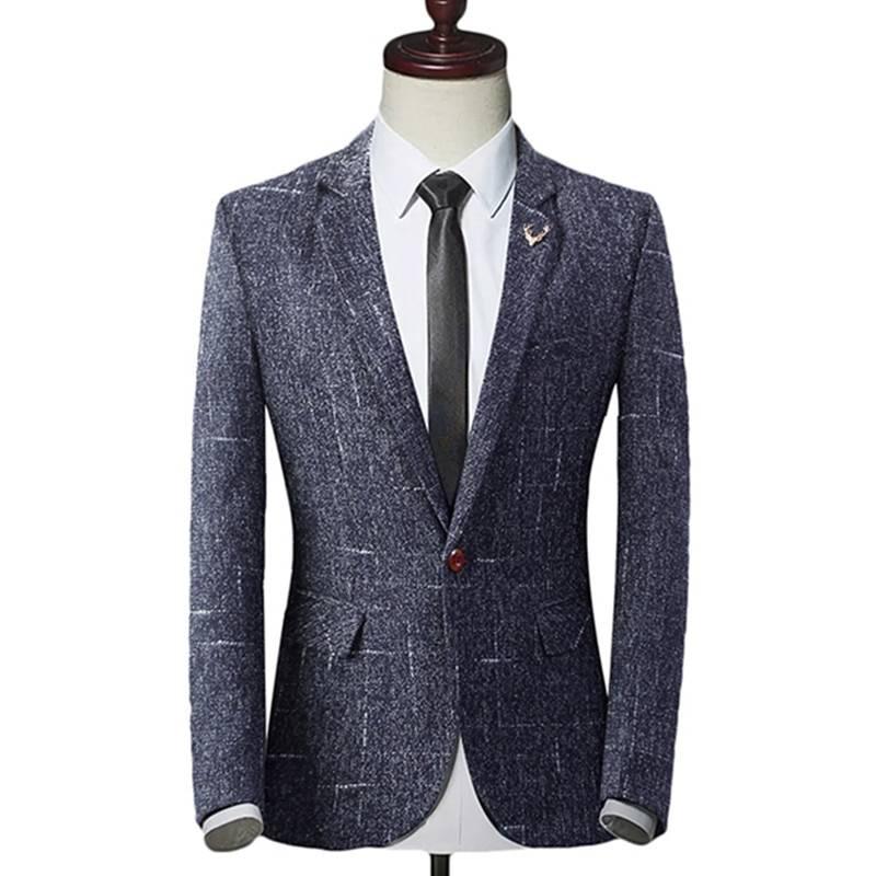 Men's Solid Jacket Men's Clothing & Accessories Suits Suits & Blazers