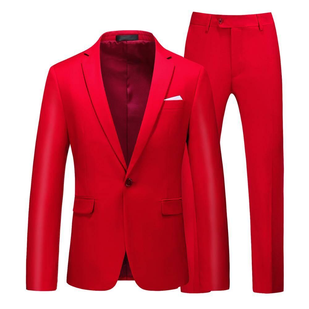 Men's multi-color Suit 2 pcs classic lapel Suits