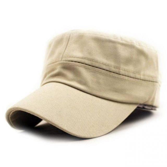 Adjustable Unisex Cotton Military Cadet Cap