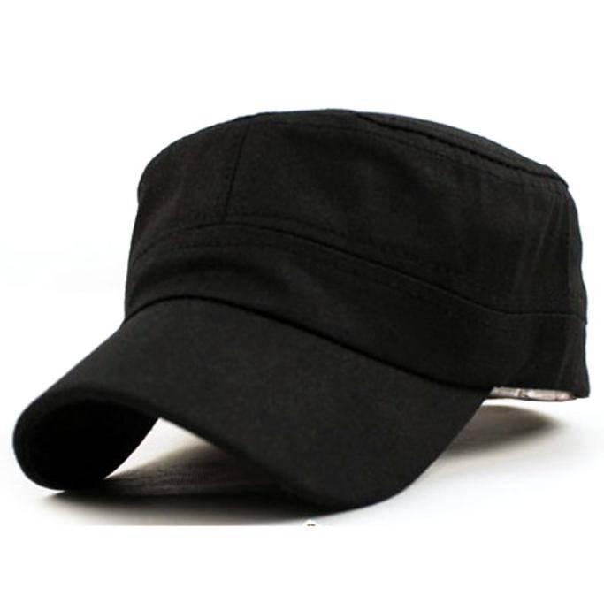 Adjustable Unisex Cotton Military Cadet Cap Hats & Caps