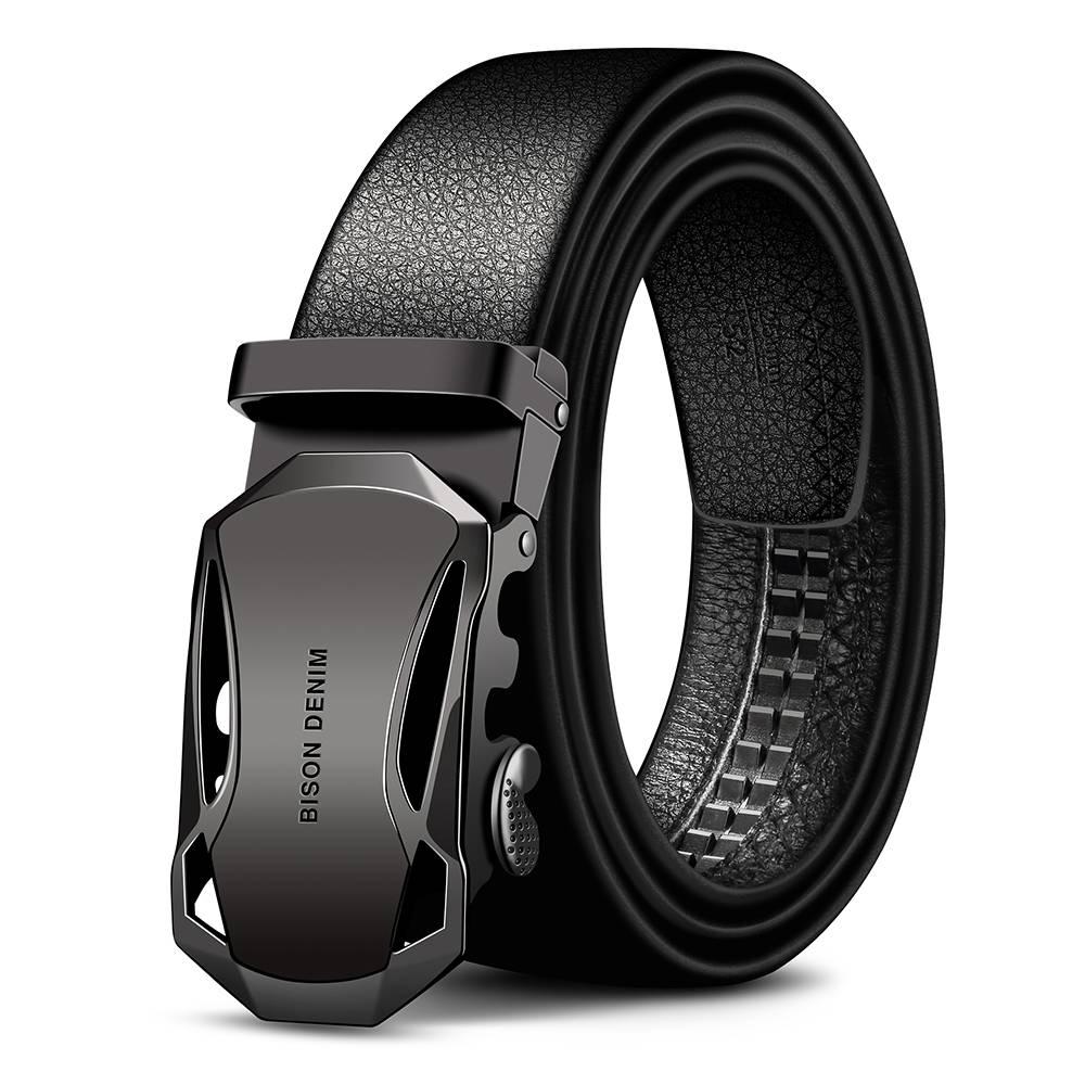 Elegant Genuine Cowhide Men's Belt Accessories Belts Men's Clothing & Accessories