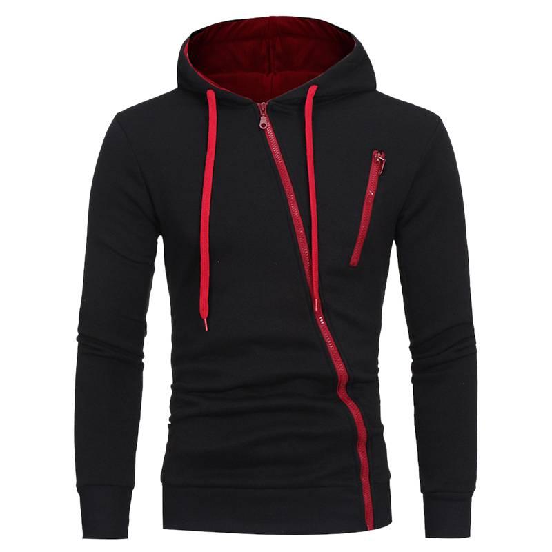 Men's Asymmetric Zipper Hoodie Hoodies & Sweatshirts Men's Clothing & Accessories