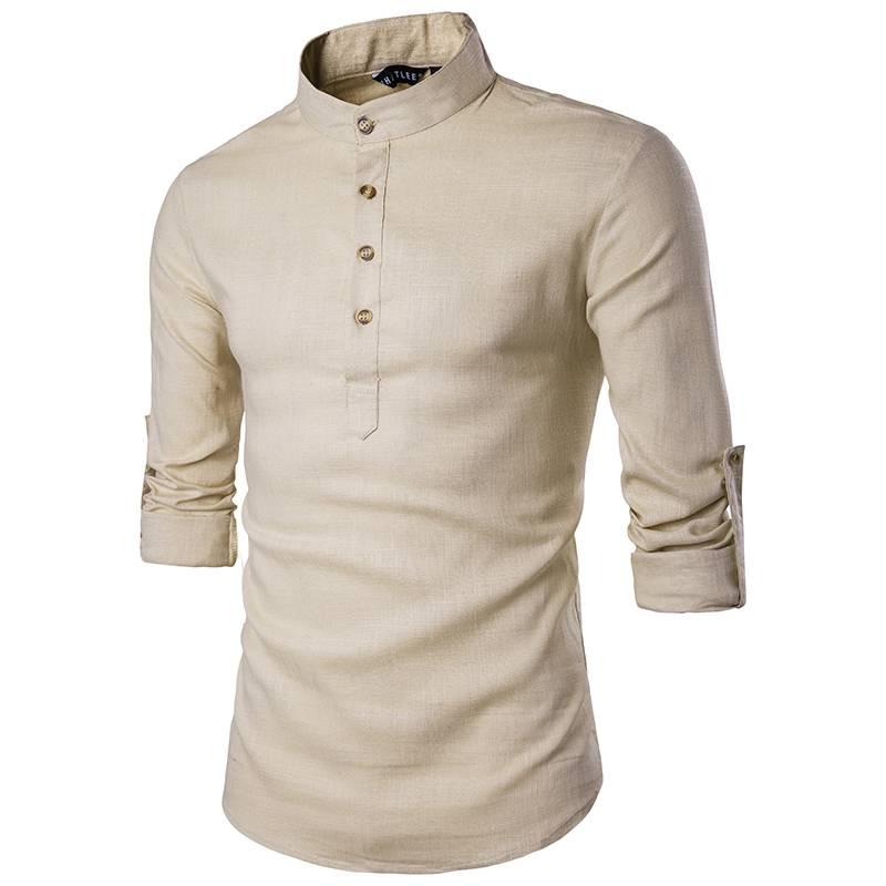 Summer Breathable Linen Men's Shirt Men's Clothing & Accessories Shirts