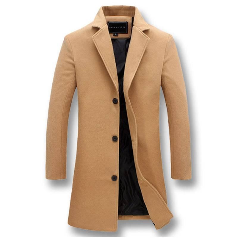 Fashion Men's Long Windproof Jackets Coats Jackets & Coats Men's Clothing & Accessories