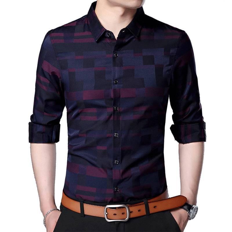 Casual Plaid Cotton Men's Shirt Men's Clothing & Accessories Shirts