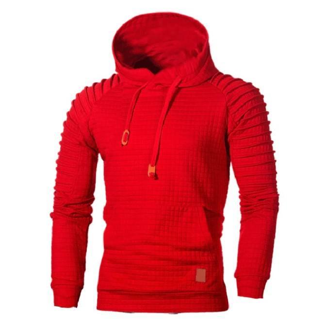 Men's Ribbed Sleeve Hoodie Hoodies & Sweatshirts Men's Clothing & Accessories