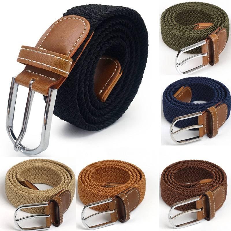 Men's Elastic Stretch Waist Belt Accessories Belts Men's Clothing & Accessories