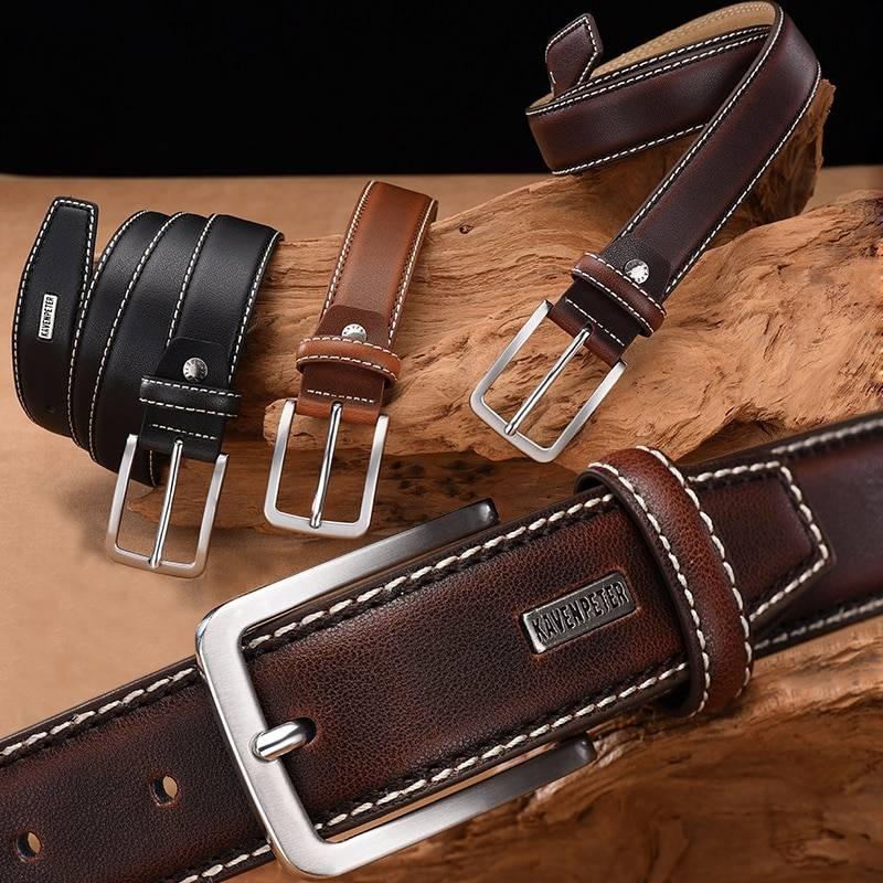 Men's Vintage Leather Belt Accessories Belts Men's Clothing & Accessories