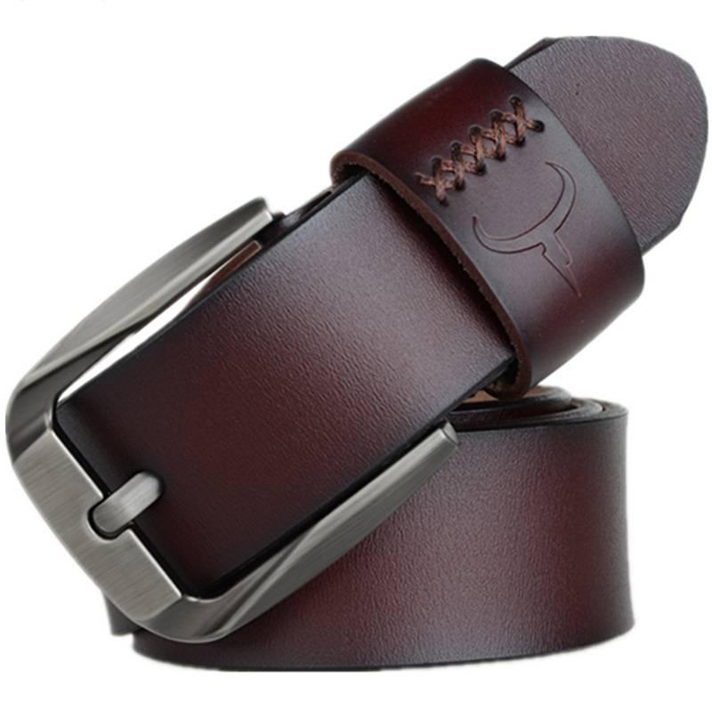 Vintage Cow Leather Men Belts Accessories Belts Men's Clothing & Accessories