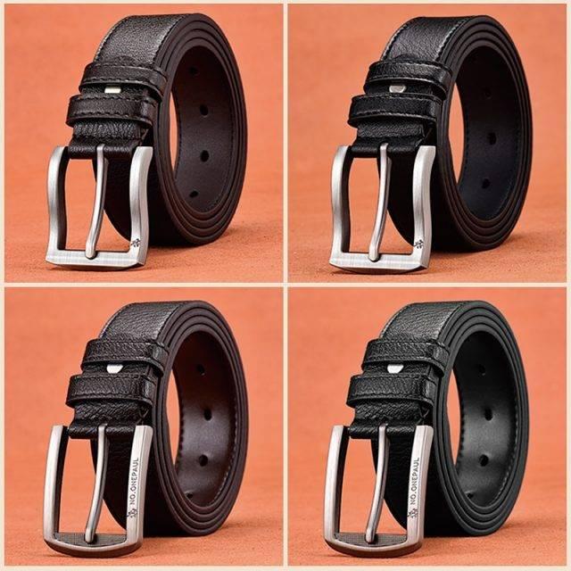 Men's Genuine Leather Belt Accessories Belts Men's Clothing & Accessories Color : Coffee / 3.8 cm / 1.50 inch|Black / 3.8 cm / 1.50 inch|Black 3.3 cm / 1.30 inch |Coffee / 3.3 cm / 1.30 inch |Black / 3.3 cm / 1.30 inch |Coffee / 3.3 cm / 1.30 inch