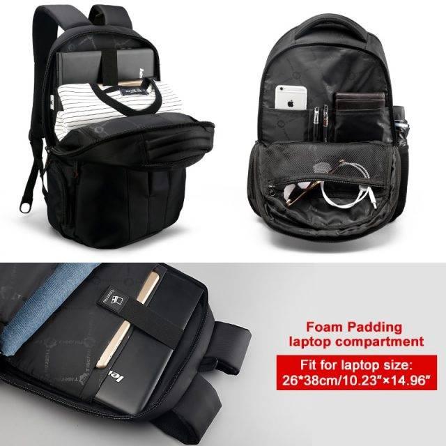 15.6 inch Laptop Backpack with TSA Lock Backpacks Men Bags & Wallets Type : Black / Blue Upgraded|Black / Orange Upgraded|Black / Blue USB|Black / Orange USB|Black / Blue|Black / Orange