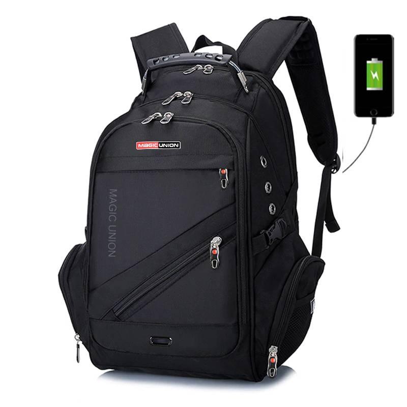 Men's Laptop Backpack with USB Charging Port Backpacks Men Bags & Wallets