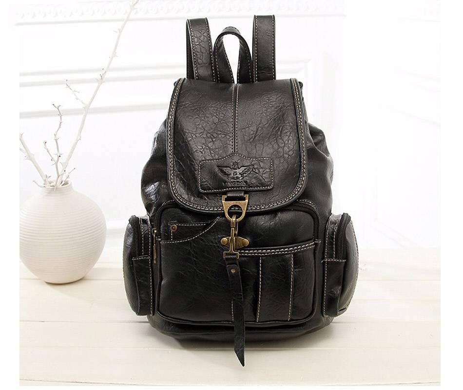 Vintage Leather Backpack Backpacks Men Bags & Wallets