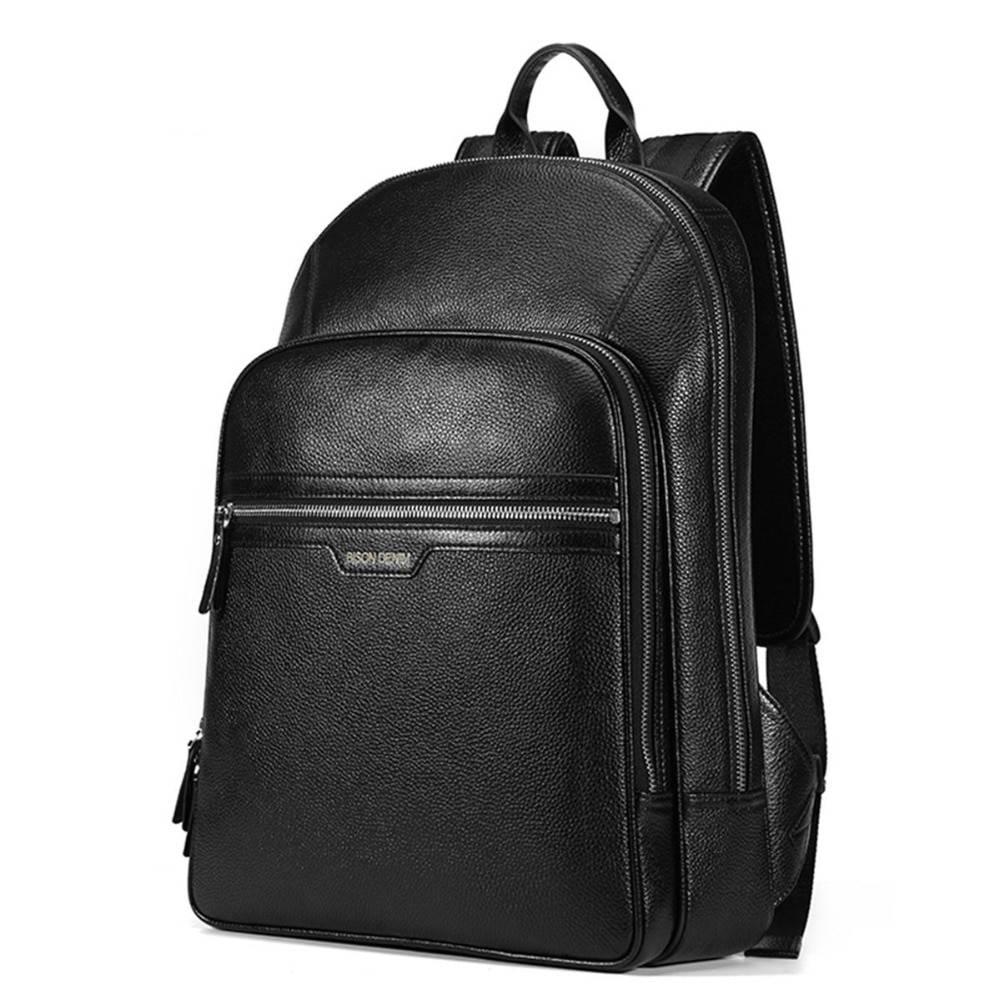 Waterproof Men's Genuine Leather Laptop Backpack Backpacks Men Bags & Wallets