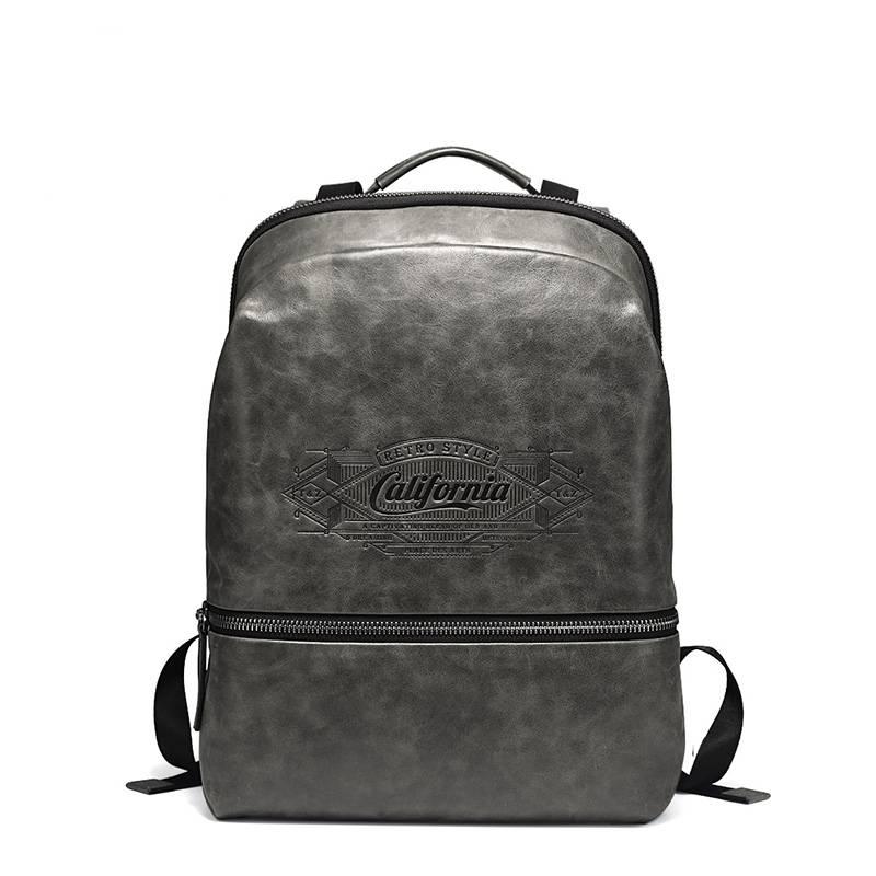 Casual Waterproof Men's Genuine Leather Laptop Backpack Backpacks Men Bags & Wallets