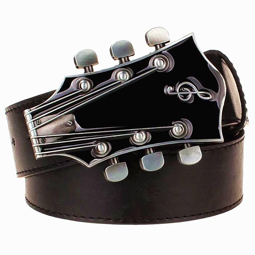 Men's Guitar Buckle Belt Accessories Belts Men's Clothing & Accessories