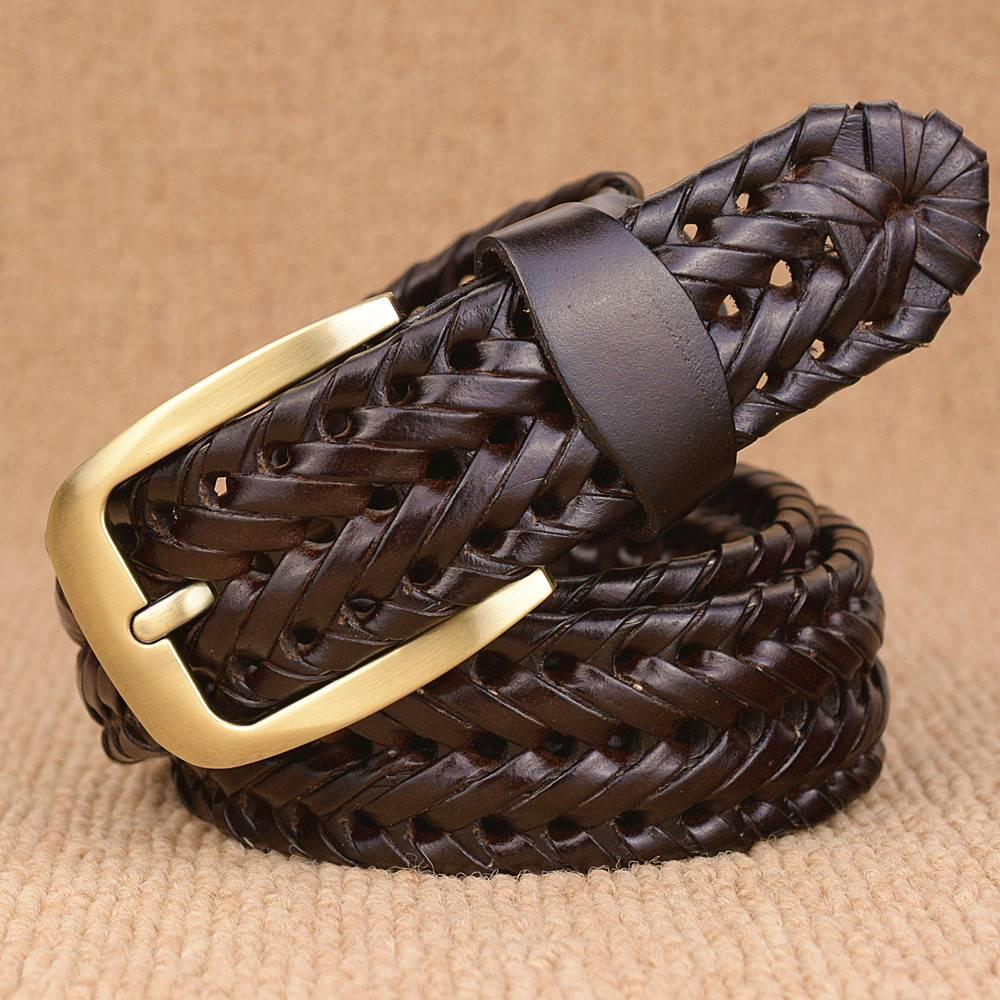 Braided Leather Men's Belt Accessories Belts Men's Clothing & Accessories