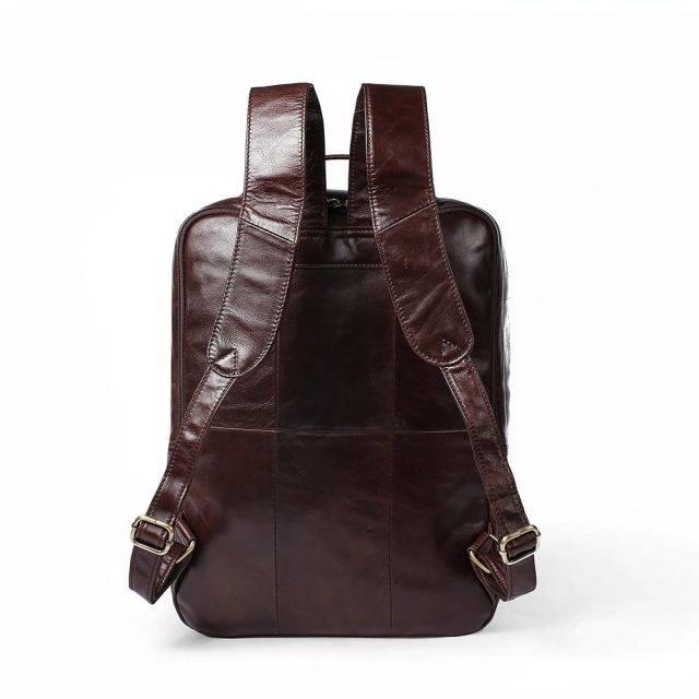Business Men's Genuine Leather Backpack Backpacks Men Bags & Wallets Color : Coffee Black Deep Grey