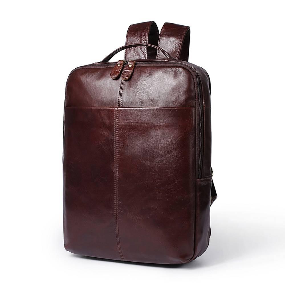 Business Men's Genuine Leather Backpack Backpacks Men Bags & Wallets