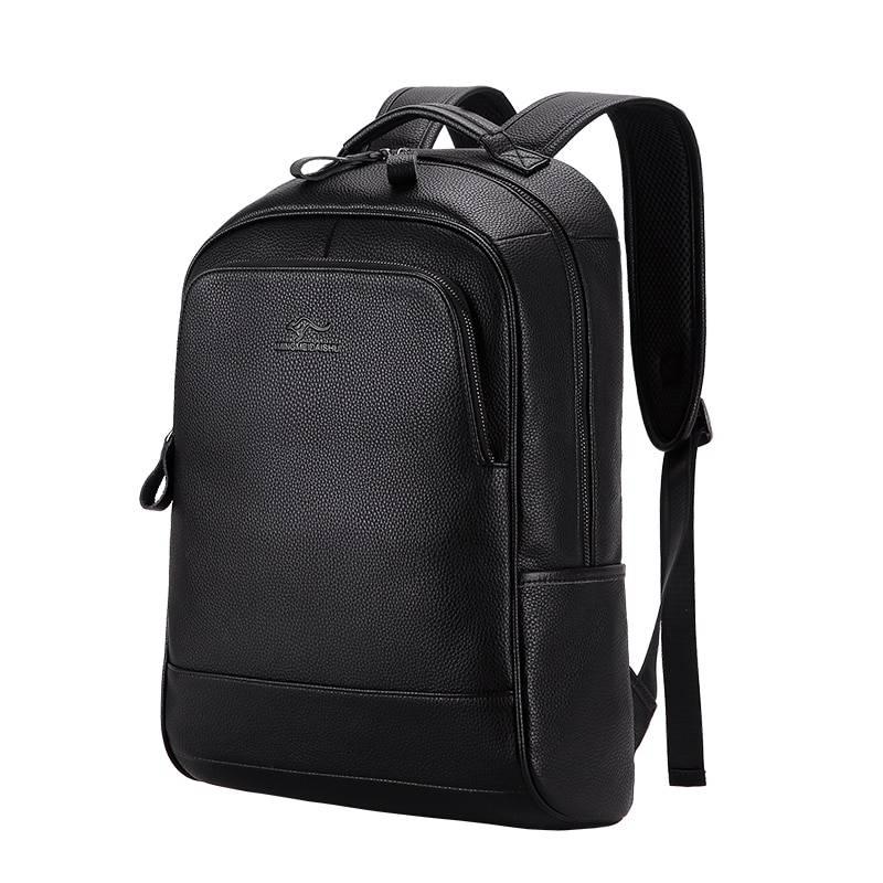 Fashion Large Capacity Men's Genuine Leather Backpack Backpacks Men Bags & Wallets