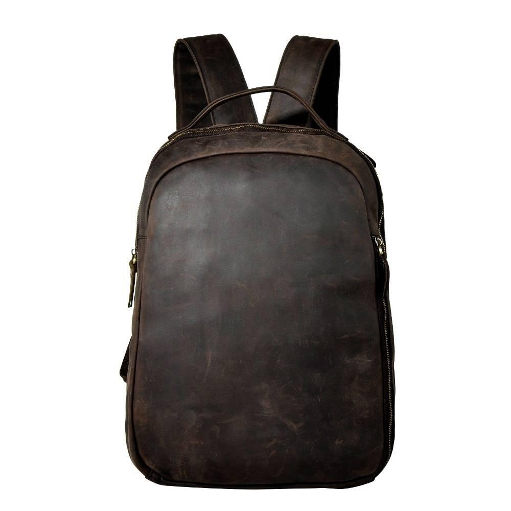 Fashion Large Capacity Men's Genuine Leather Travel Backpack Backpacks Men Bags & Wallets