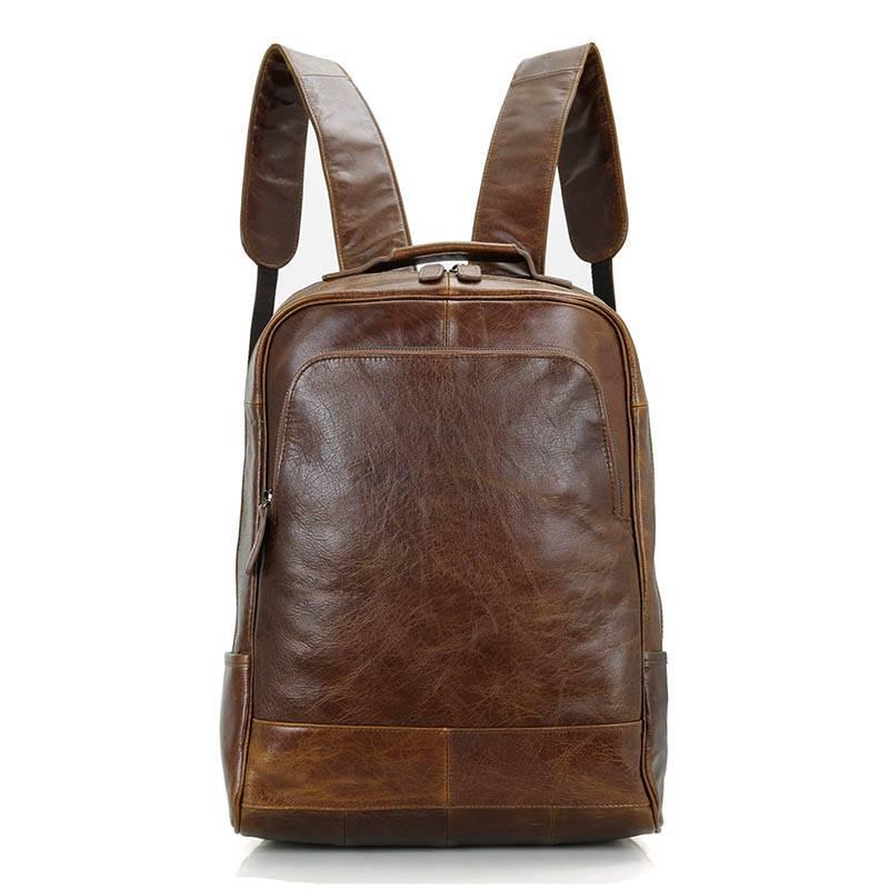 Fashion Waterproof Men's Genuine Leather Backpack Backpacks Men Bags & Wallets